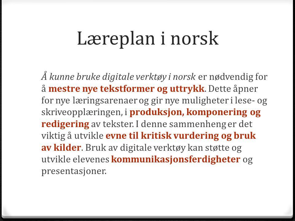 Læreplan i norsk