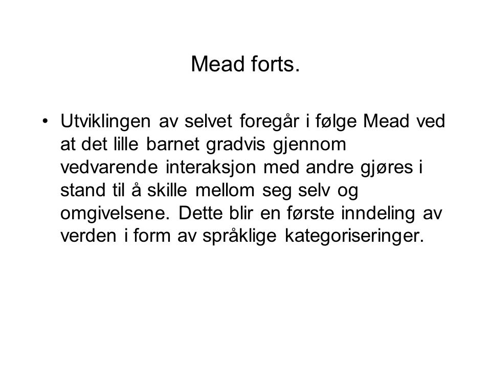 Mead forts.