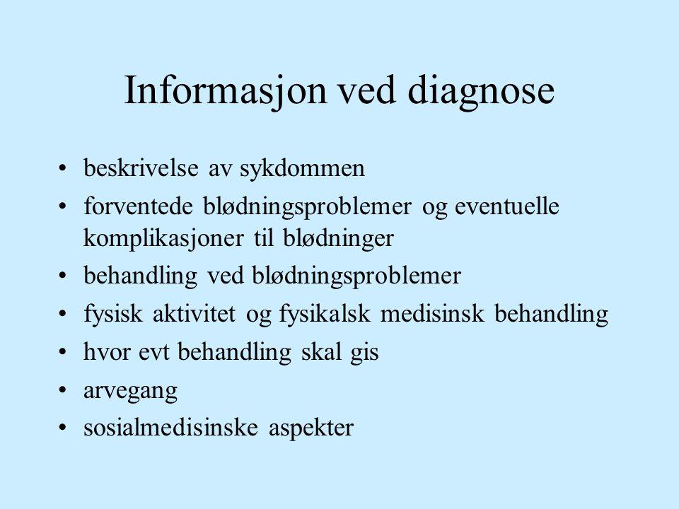 Informasjon ved diagnose