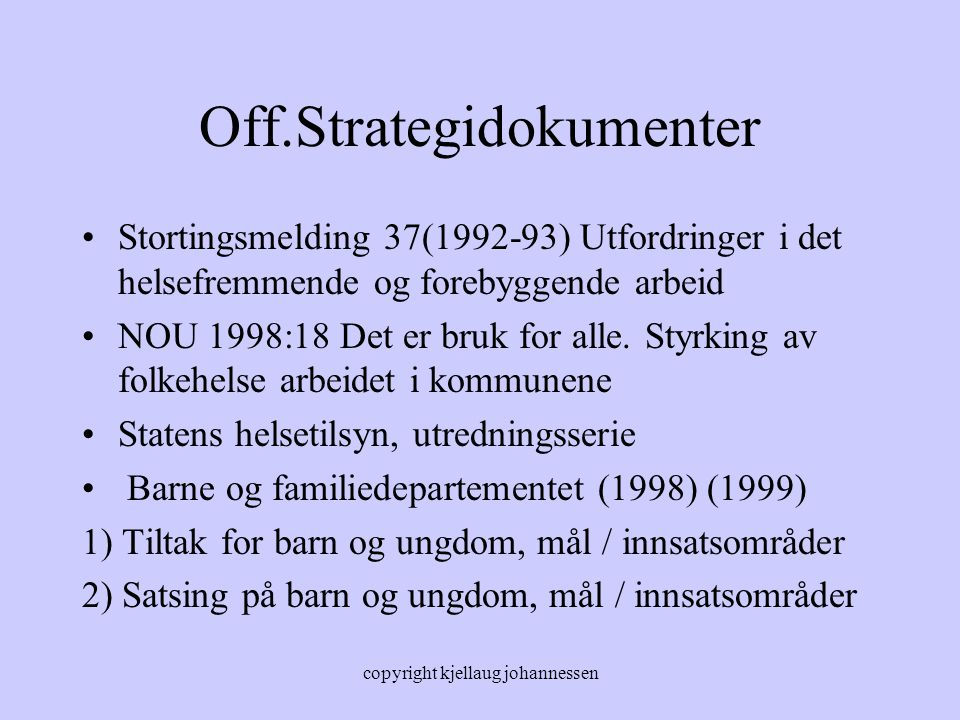 Off.Strategidokumenter