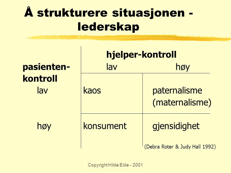 Å strukturere situasjonen - lederskap