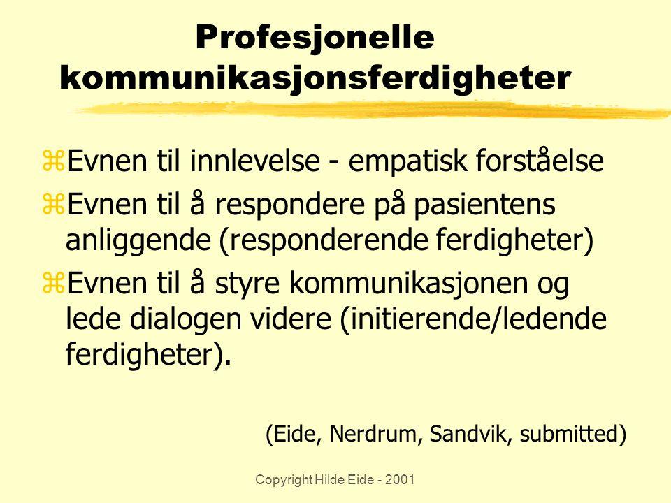 Profesjonelle kommunikasjonsferdigheter