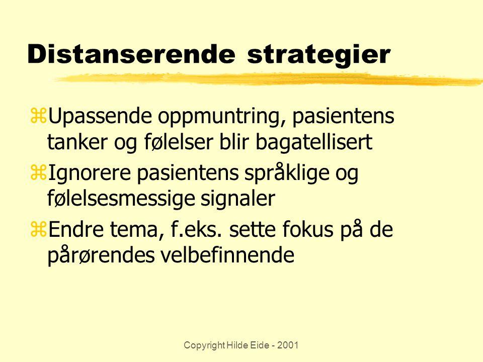 Distanserende strategier