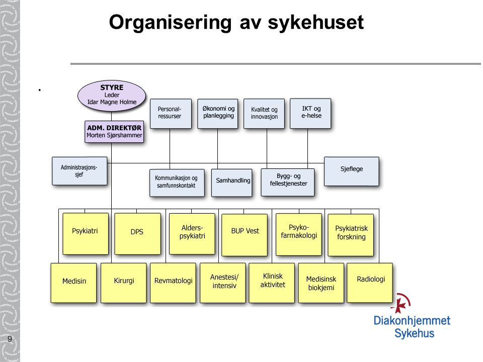 Organisering av sykehuset