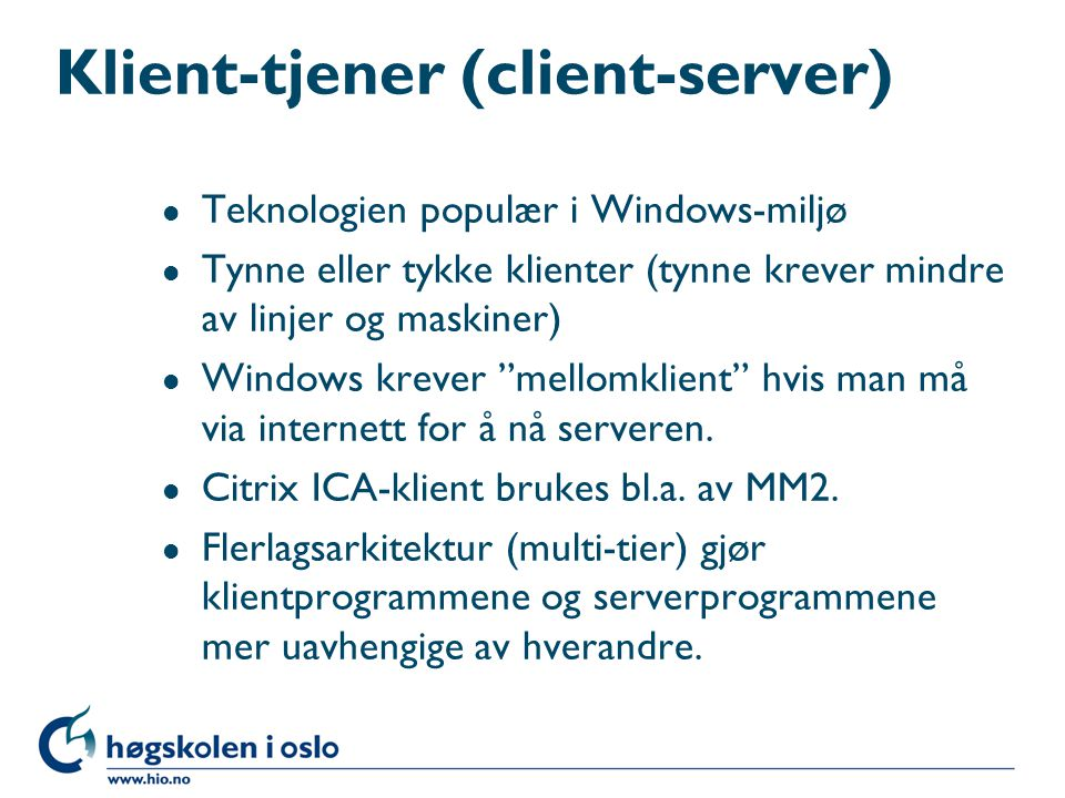 Klient-tjener (client-server)