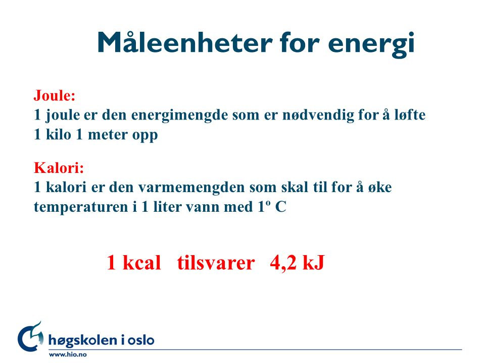 Måleenheter for energi
