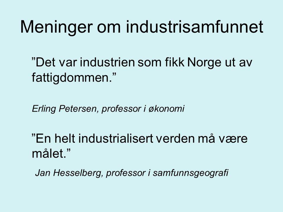 Meninger om industrisamfunnet