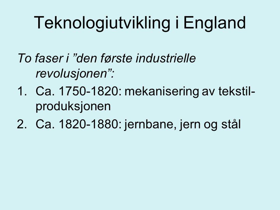 Teknologiutvikling i England