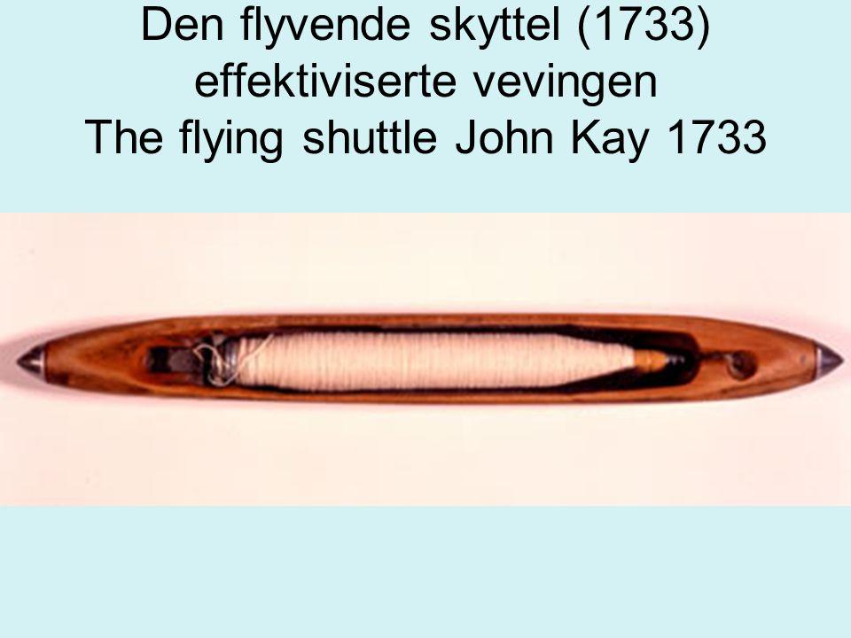 Den flyvende skyttel (1733) effektiviserte vevingen The flying shuttle John Kay 1733