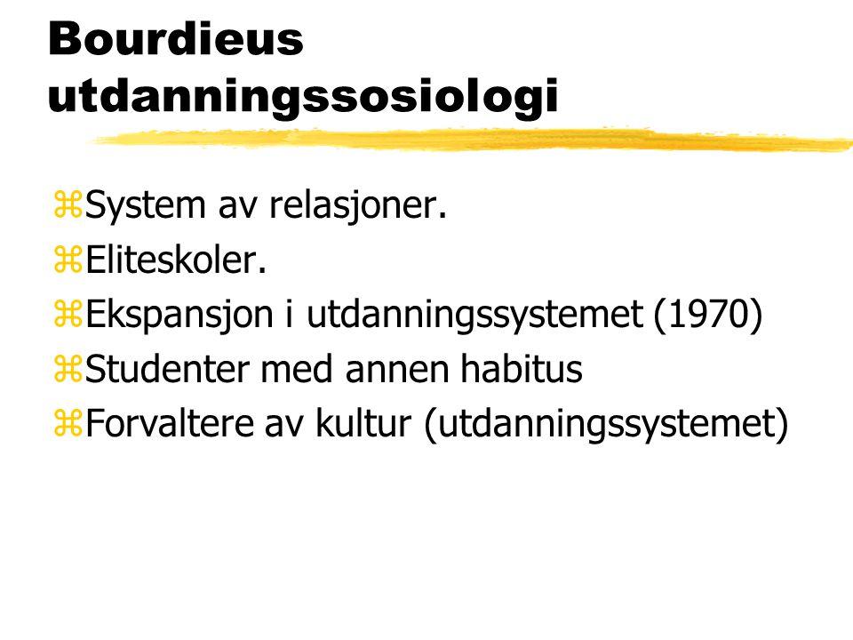 Bourdieus utdanningssosiologi