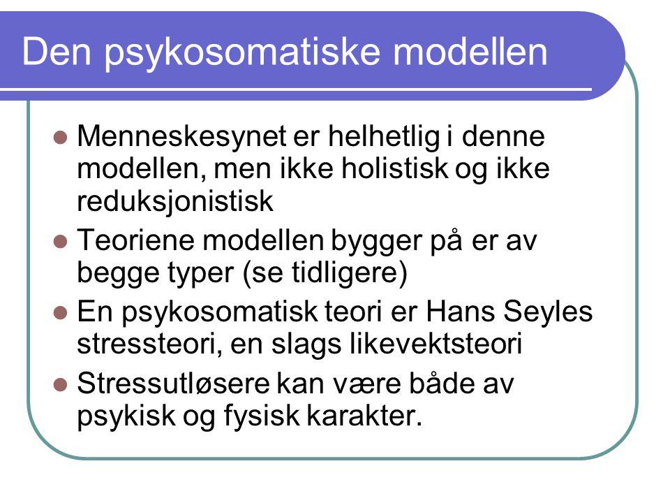 Den psykosomatiske modellen