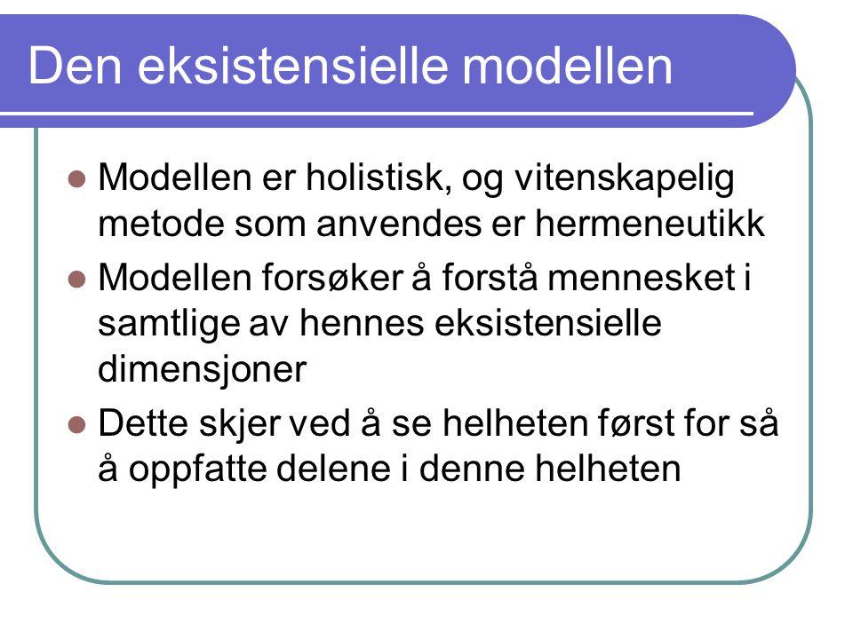 Den eksistensielle modellen