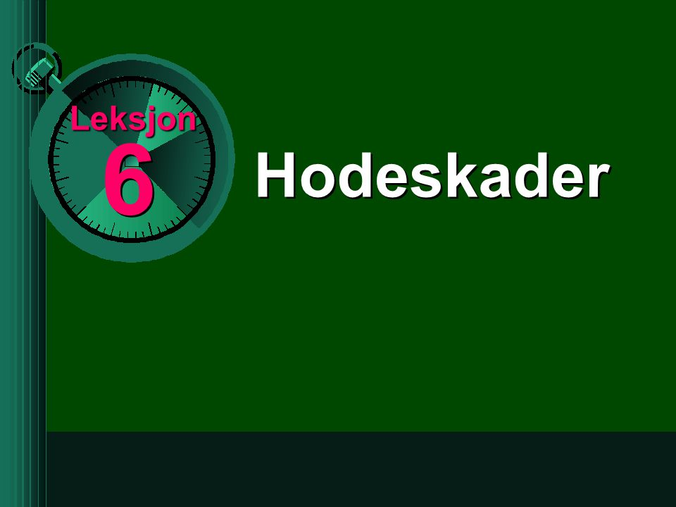 Leksjon 6 Hodeskader