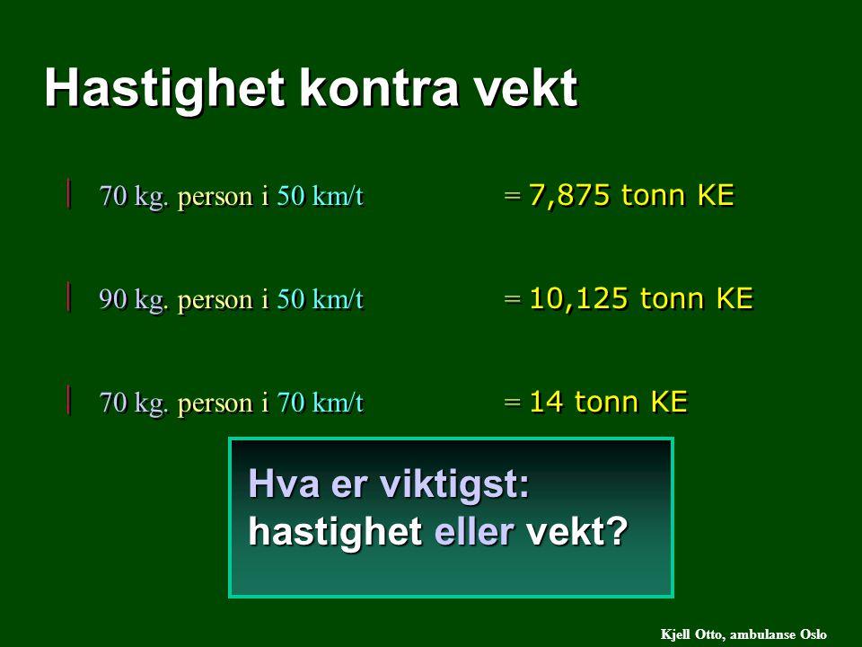 Hastighet kontra vekt Hva er viktigst: hastighet eller vekt