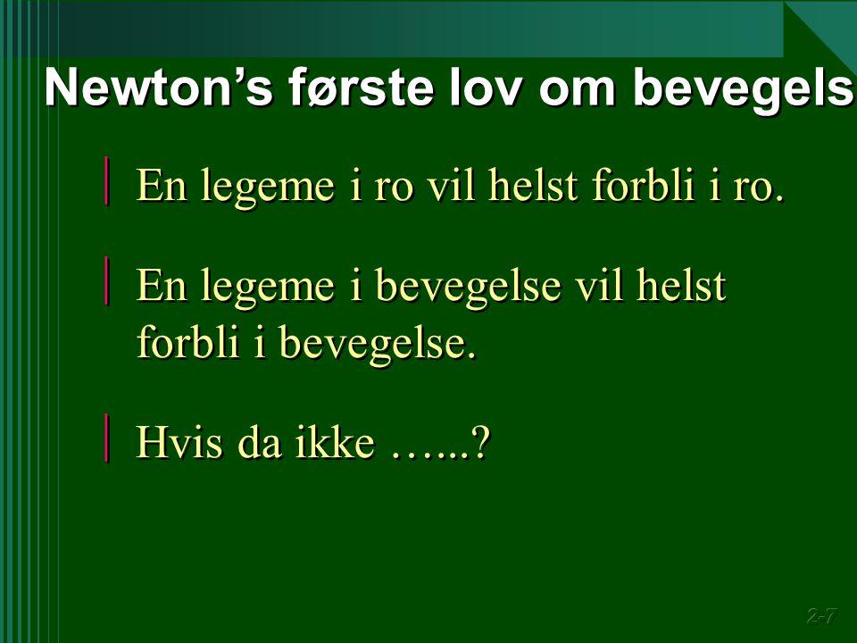 Newton's første lov om bevegelse