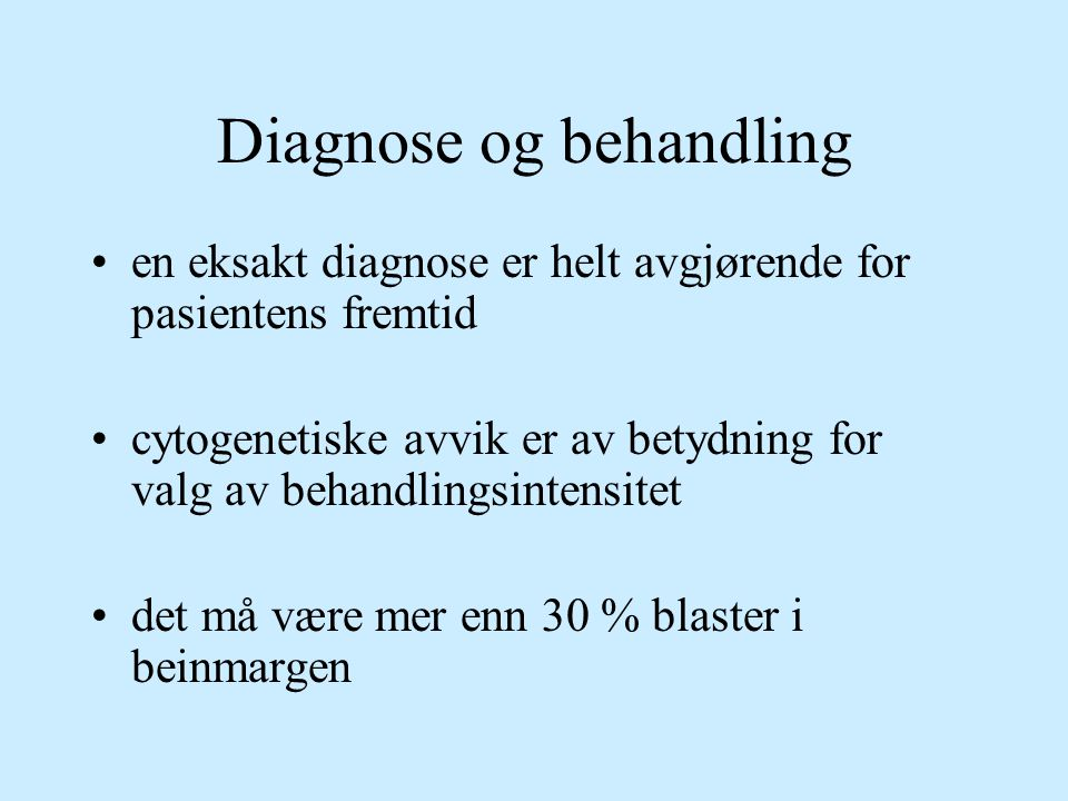 Diagnose og behandling