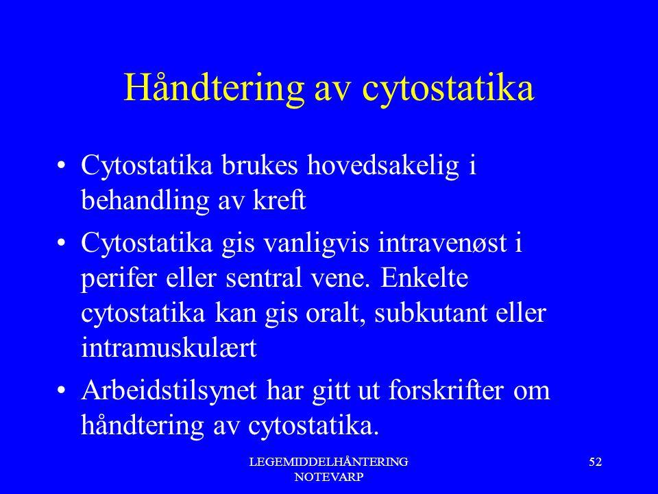 Håndtering av cytostatika