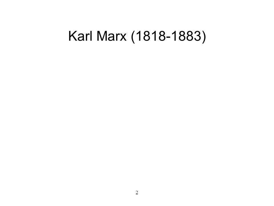 Karl Marx (1818-1883) 2