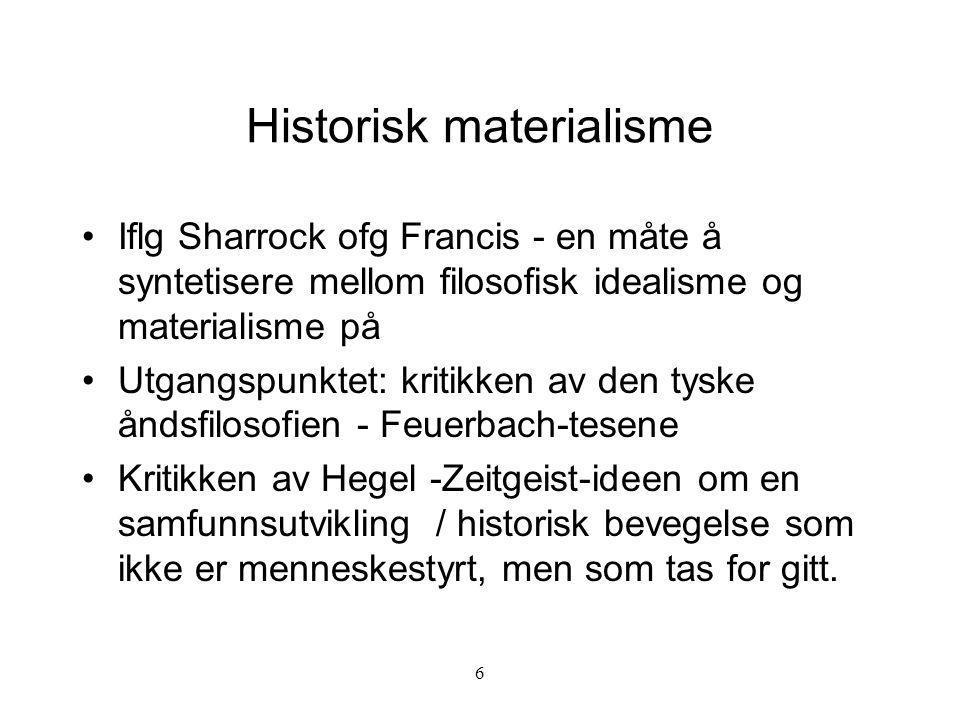 Historisk materialisme
