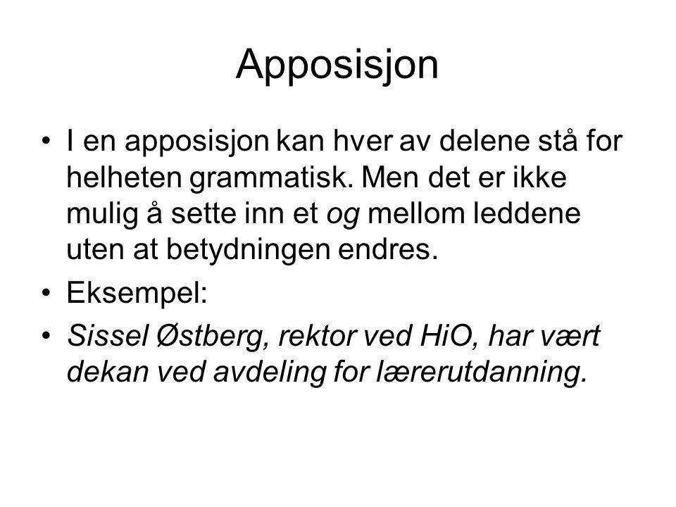 Apposisjon