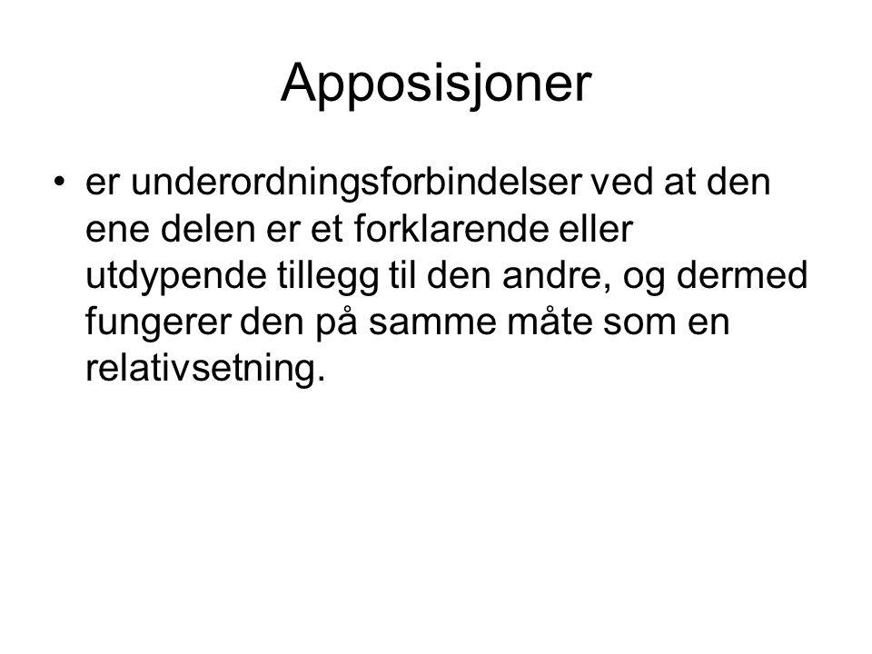 Apposisjoner