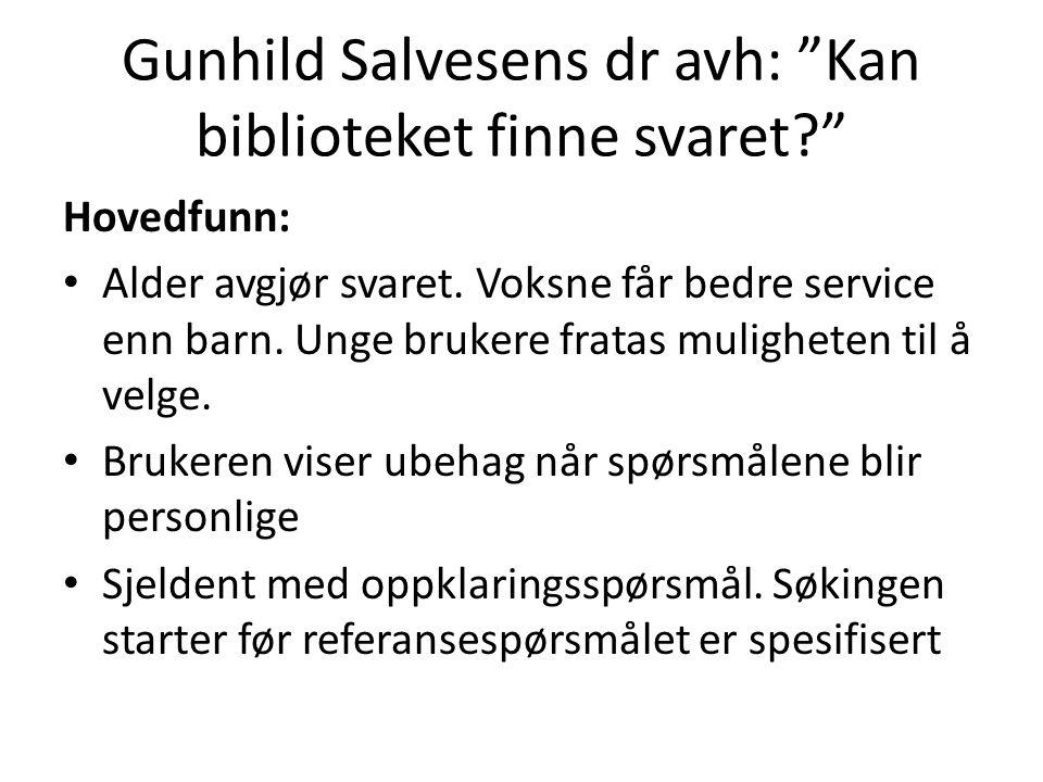 Gunhild Salvesens dr avh: Kan biblioteket finne svaret