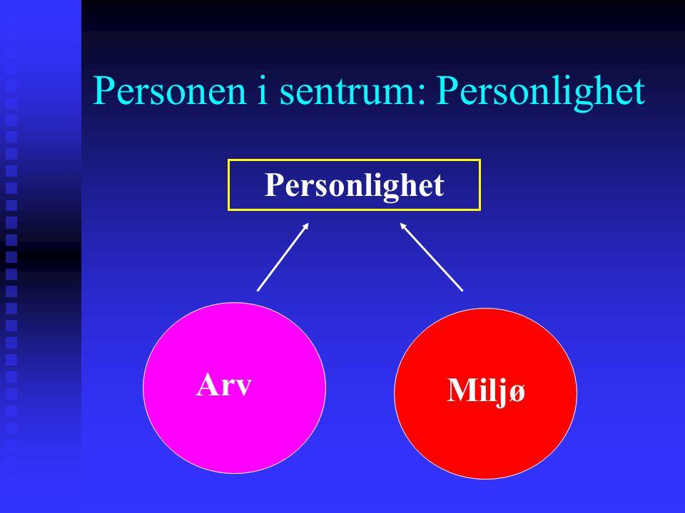 Personen i sentrum: Personlighet