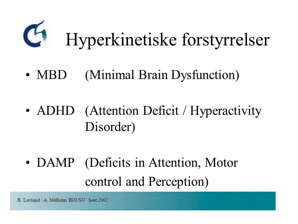 Hyperkinetiske forstyrrelser