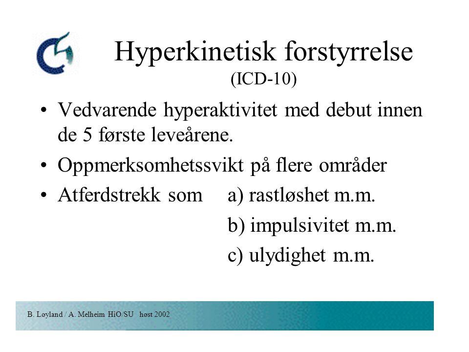 Hyperkinetisk forstyrrelse (ICD-10)