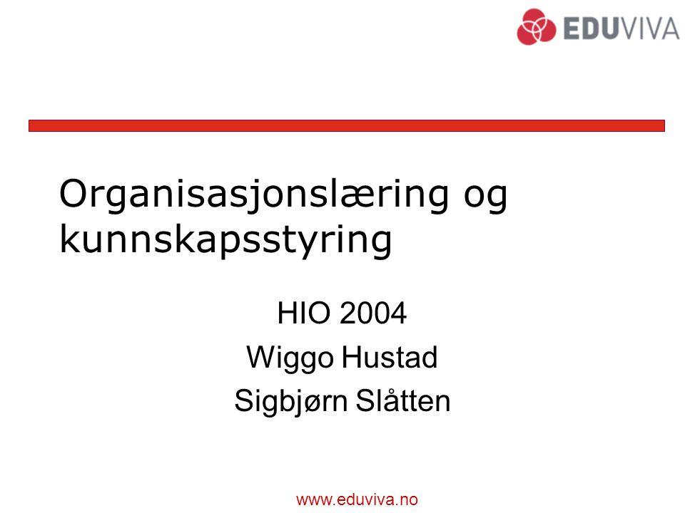 Organisasjonslæring og kunnskapsstyring