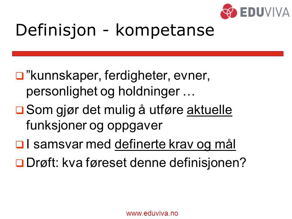 Definisjon - kompetanse