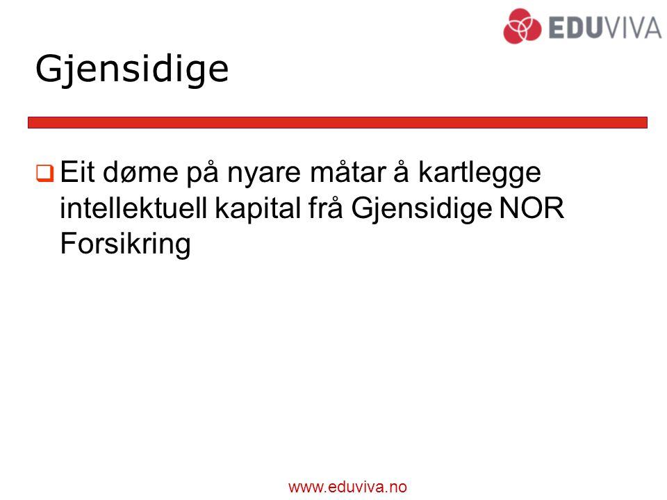Gjensidige Eit døme på nyare måtar å kartlegge intellektuell kapital frå Gjensidige NOR Forsikring