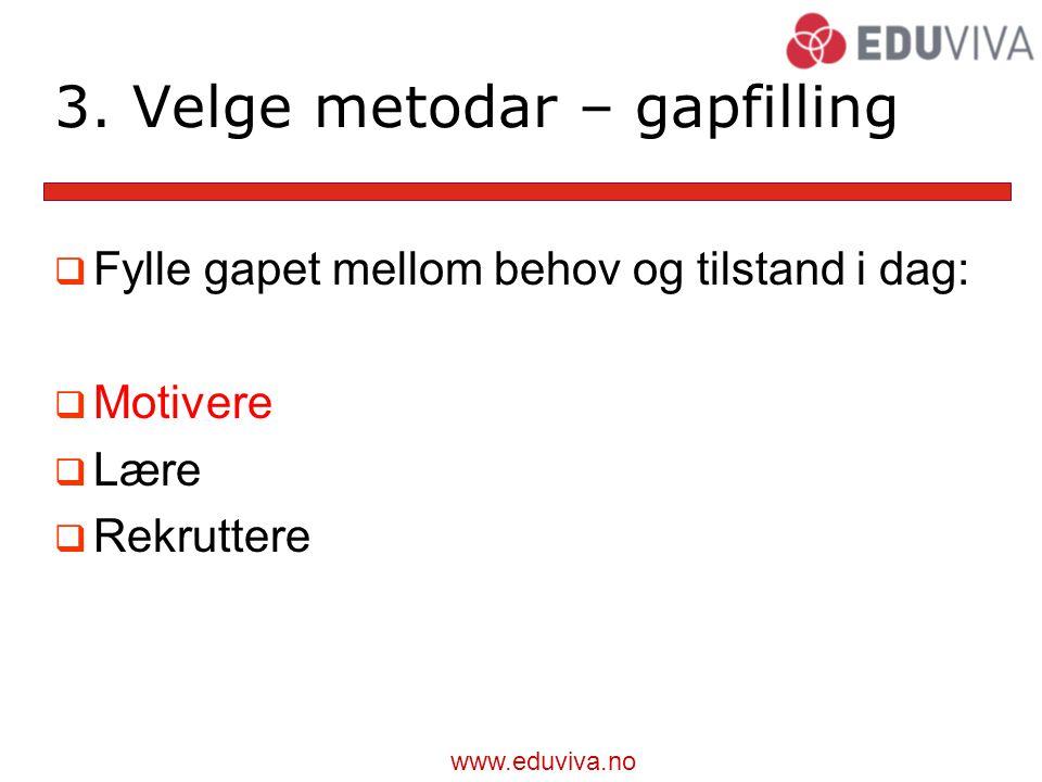 3. Velge metodar – gapfilling