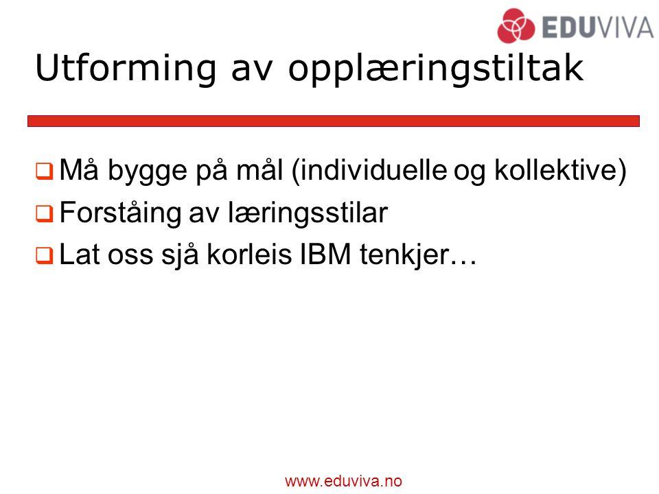 Utforming av opplæringstiltak