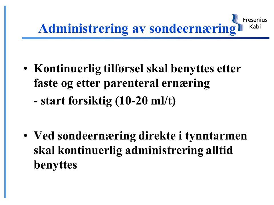 Administrering av sondeernæring