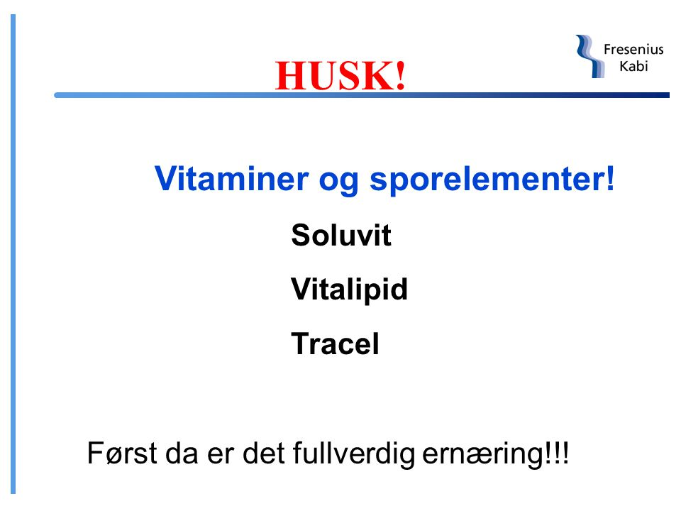 HUSK! Vitaminer og sporelementer! Soluvit Vitalipid Tracel