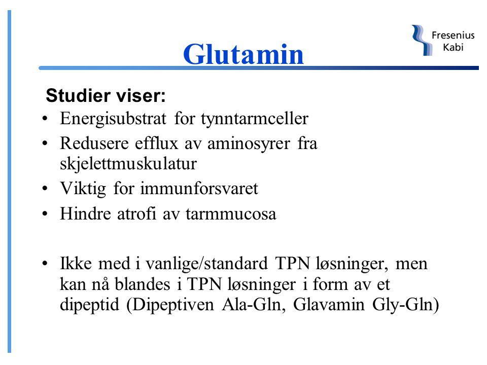 Glutamin Studier viser: Energisubstrat for tynntarmceller