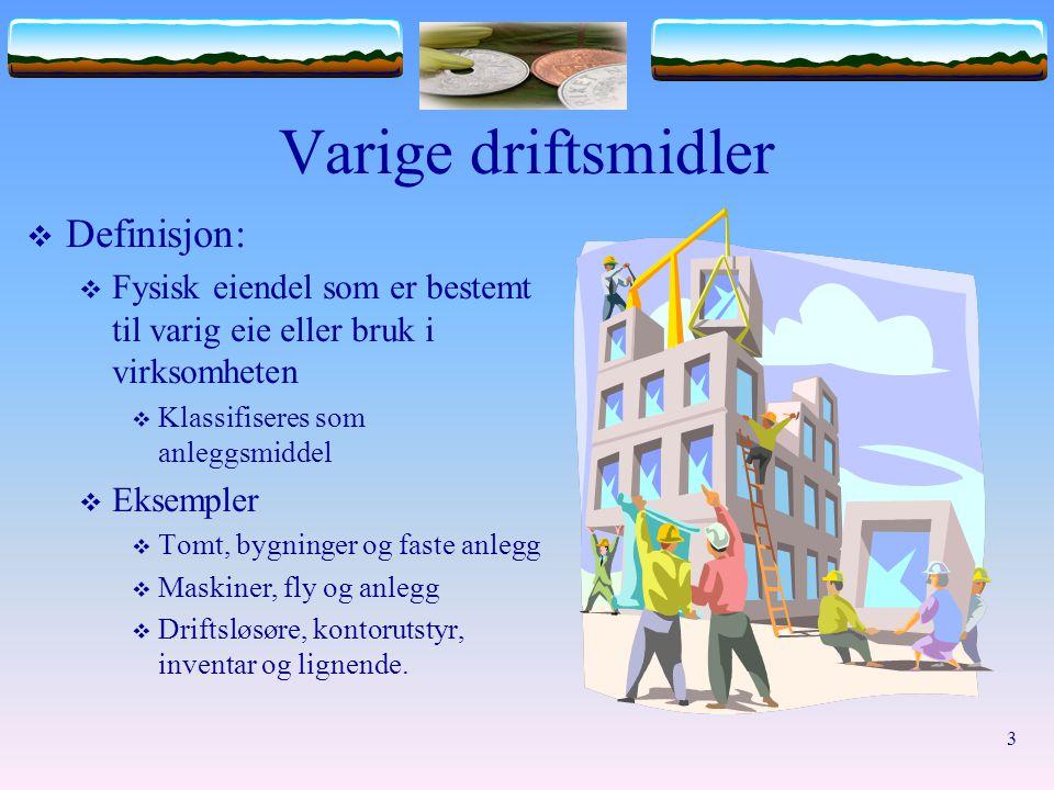 Varige driftsmidler Definisjon: