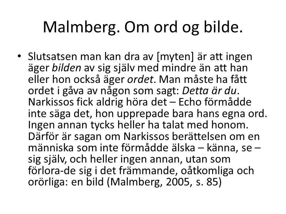 Malmberg. Om ord og bilde.