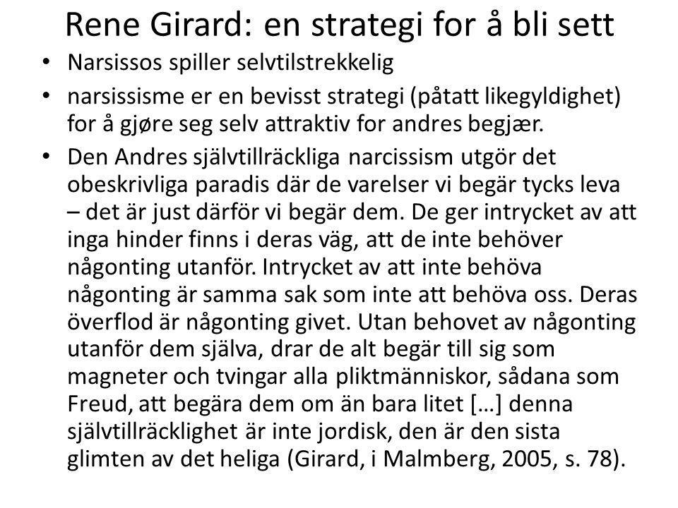 Rene Girard: en strategi for å bli sett