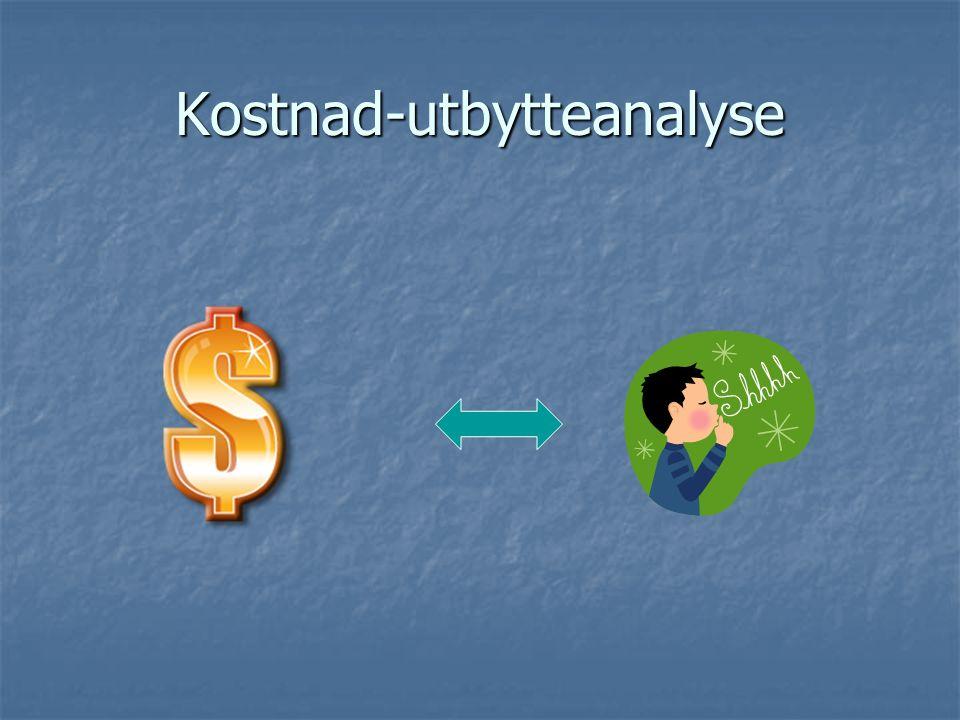 Kostnad-utbytteanalyse