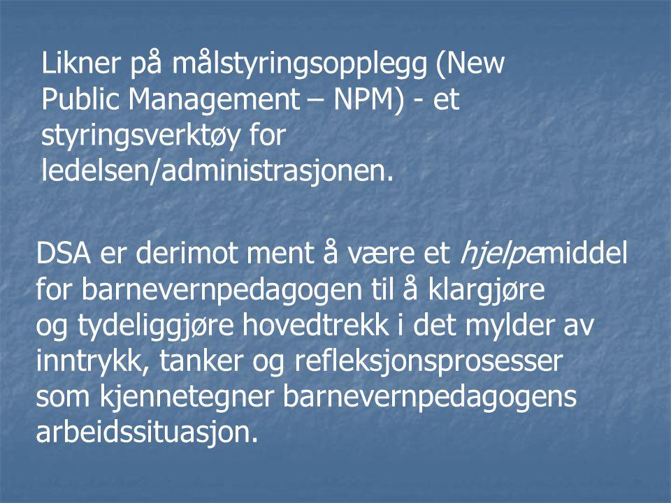 Likner på målstyringsopplegg (New