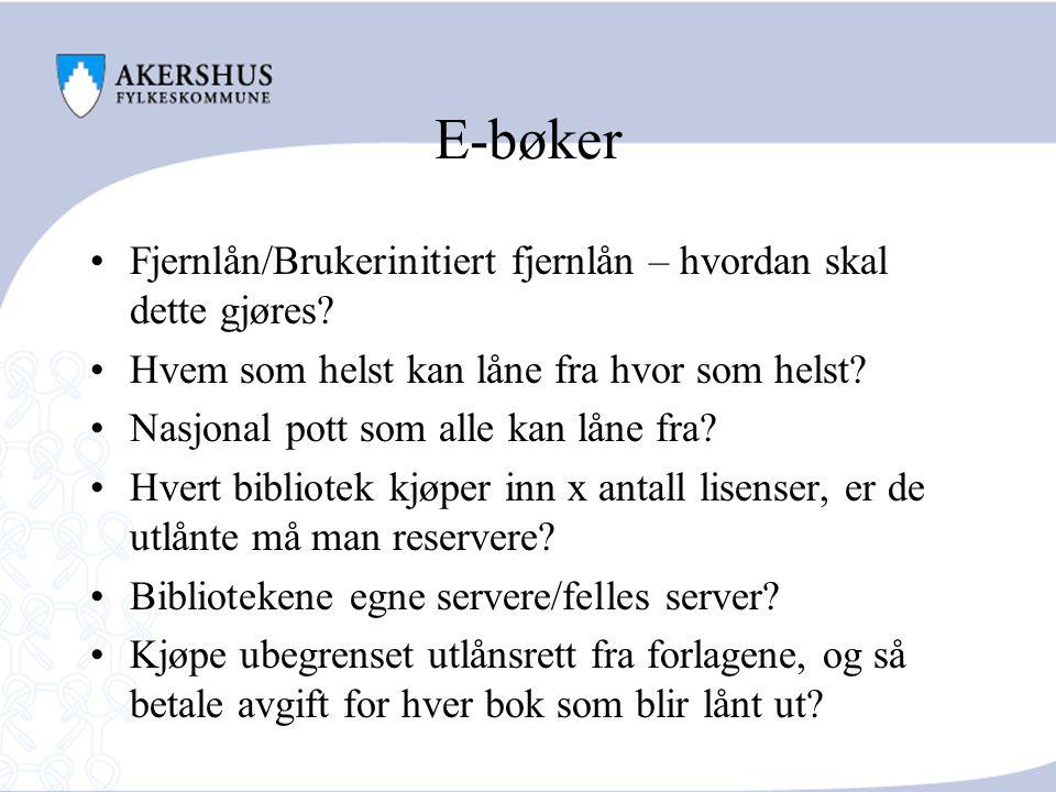 E-bøker Fjernlån/Brukerinitiert fjernlån – hvordan skal dette gjøres