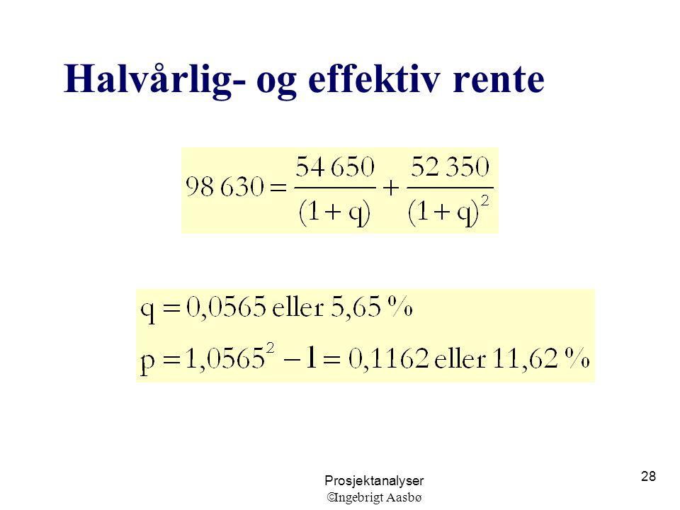 Halvårlig- og effektiv rente