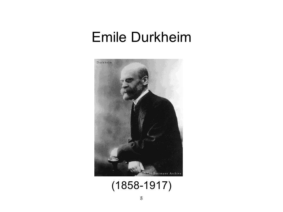 Emile Durkheim (1858-1917) 8