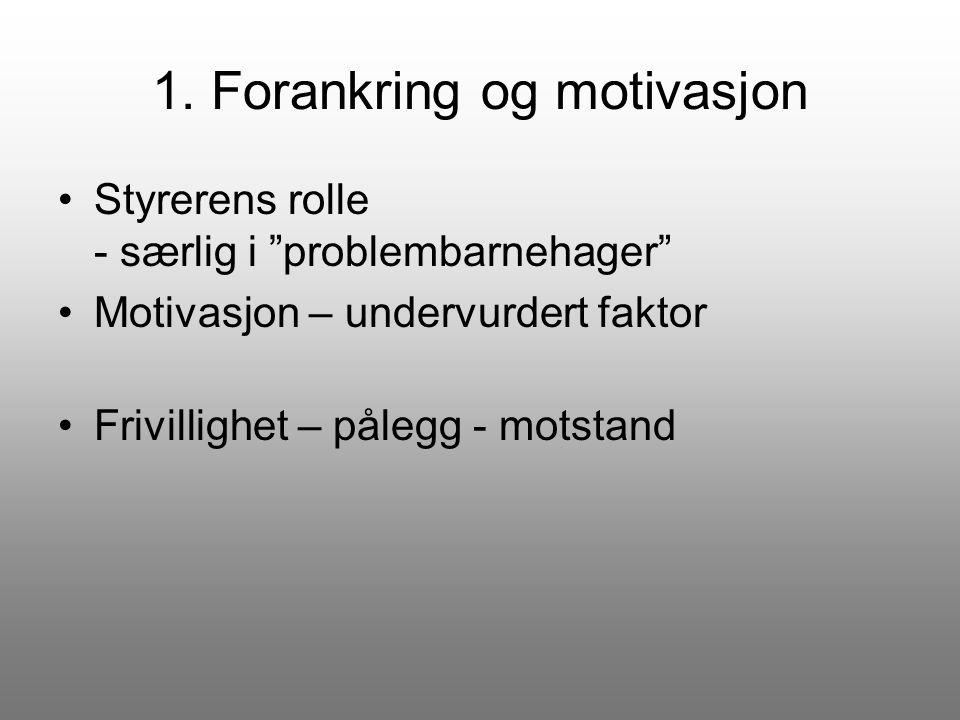1. Forankring og motivasjon