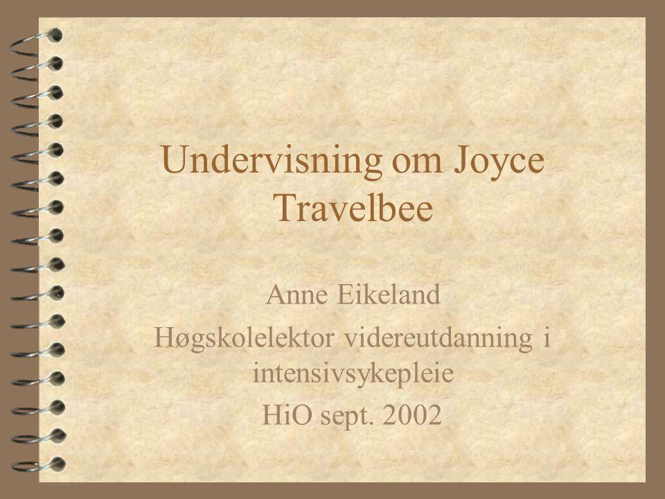 Undervisning om Joyce Travelbee