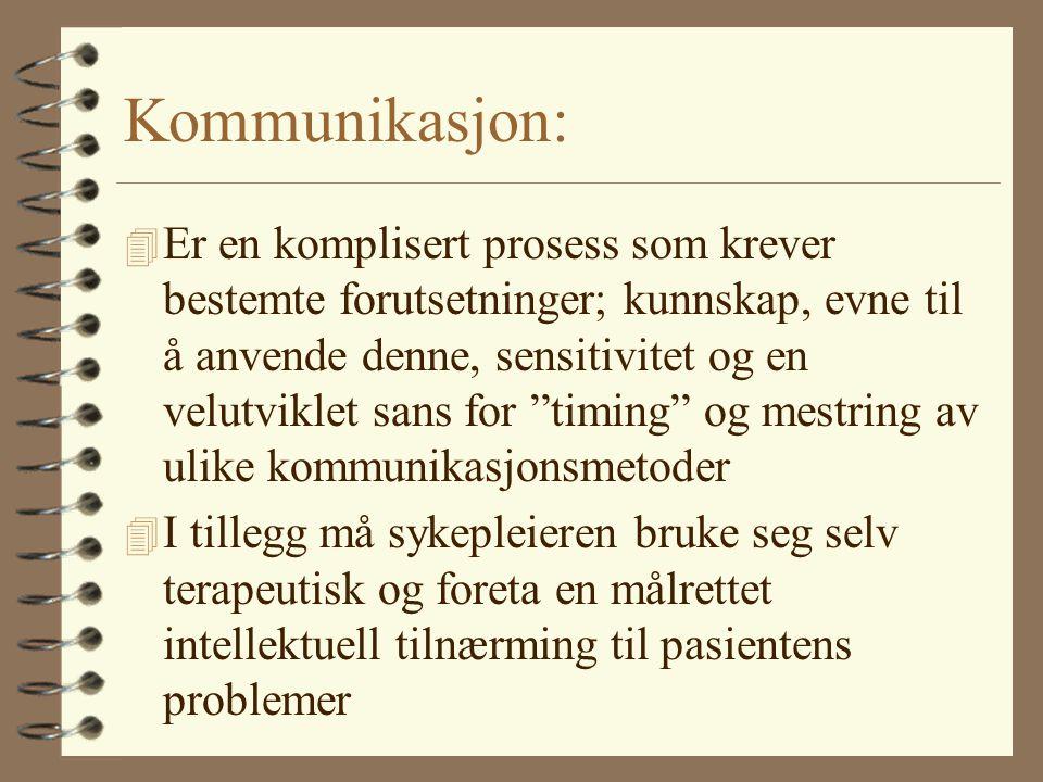 Kommunikasjon: