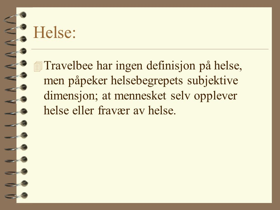Helse: