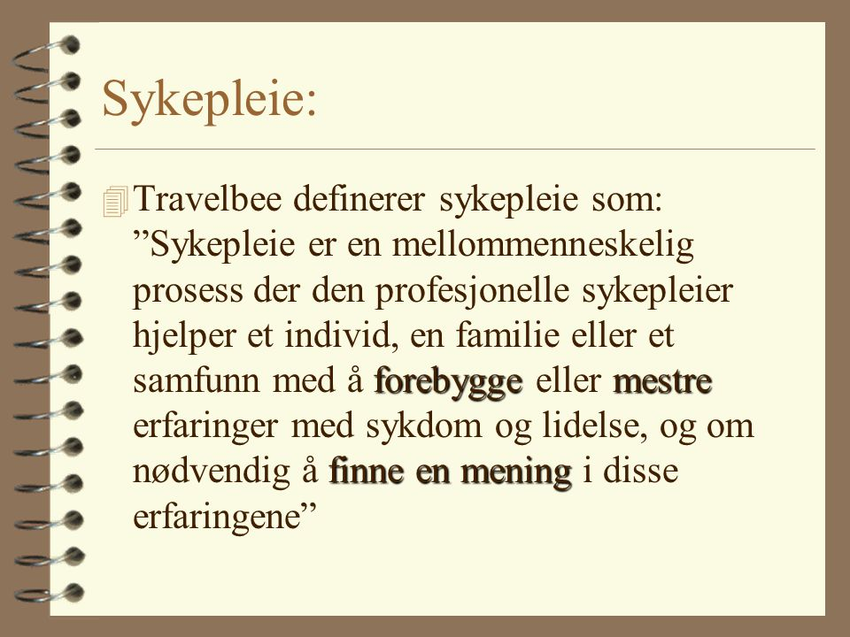 Sykepleie: